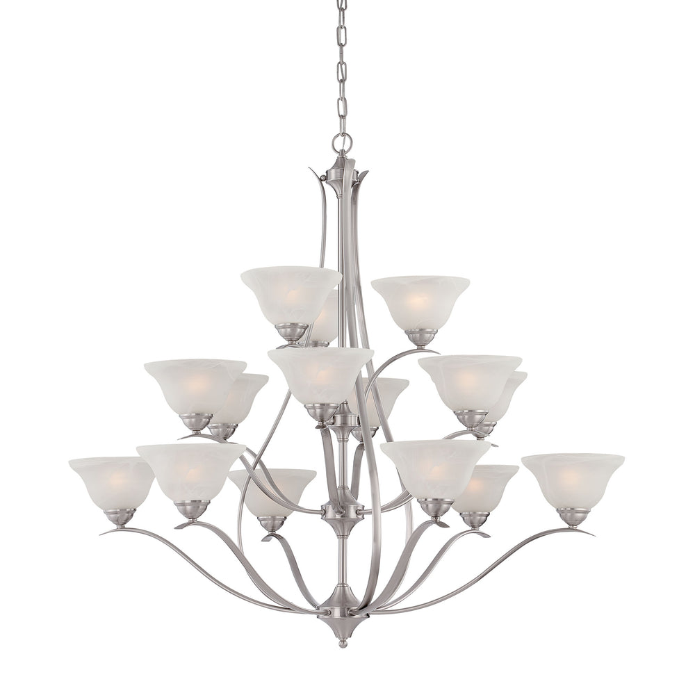 Thomas Lighting TK0023217 Prestige 15 Light Chandelier In Brushed Nickel Brushed Nickel