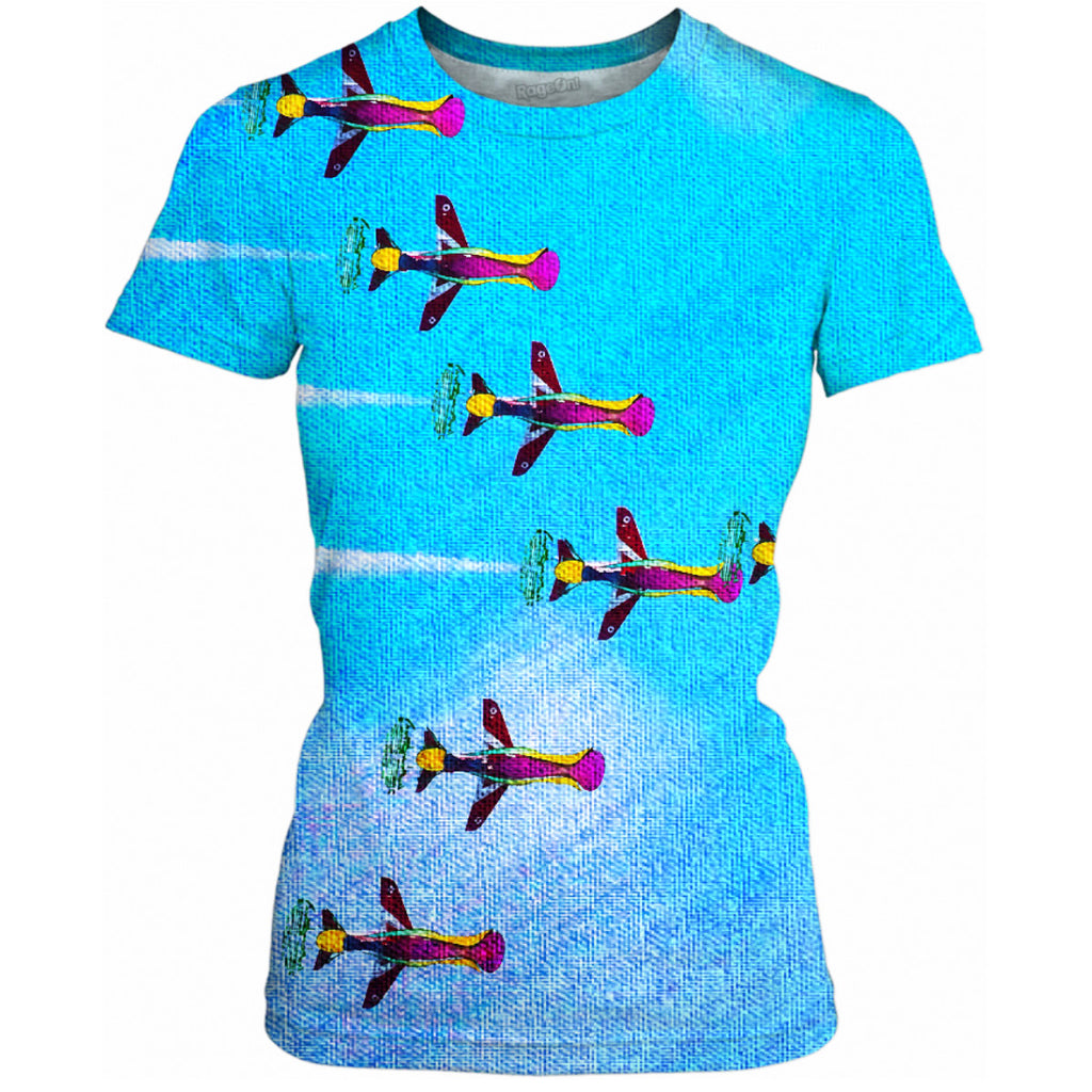 Embracing Airplanes Ladies Tee