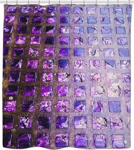 Amethyst Sidewalk Shower Curtain