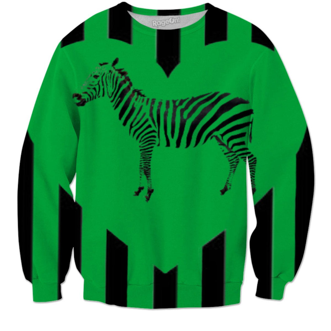 Green Screen Zebra Sweatshirt
