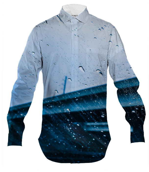 Raindrops Keep Falling Men's Dress Shirt