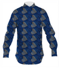 Indigo Bricks with Rusty Hearts Men's Dress Shirt