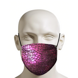 Purple Scales Face Mask