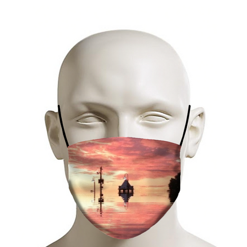 Sunset Reflection Face Mask