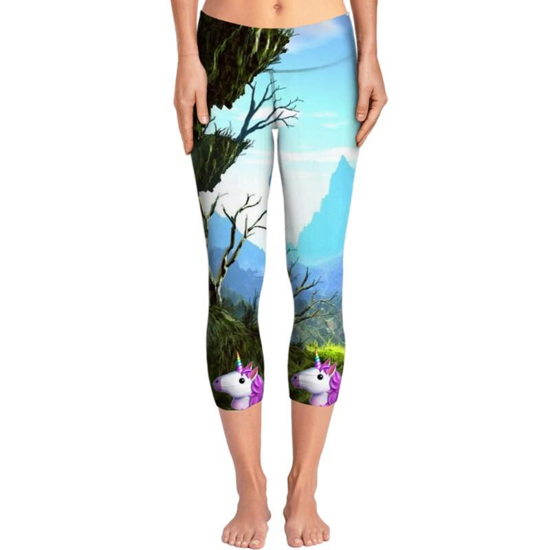 Unicorn Emoji Yoga Pants