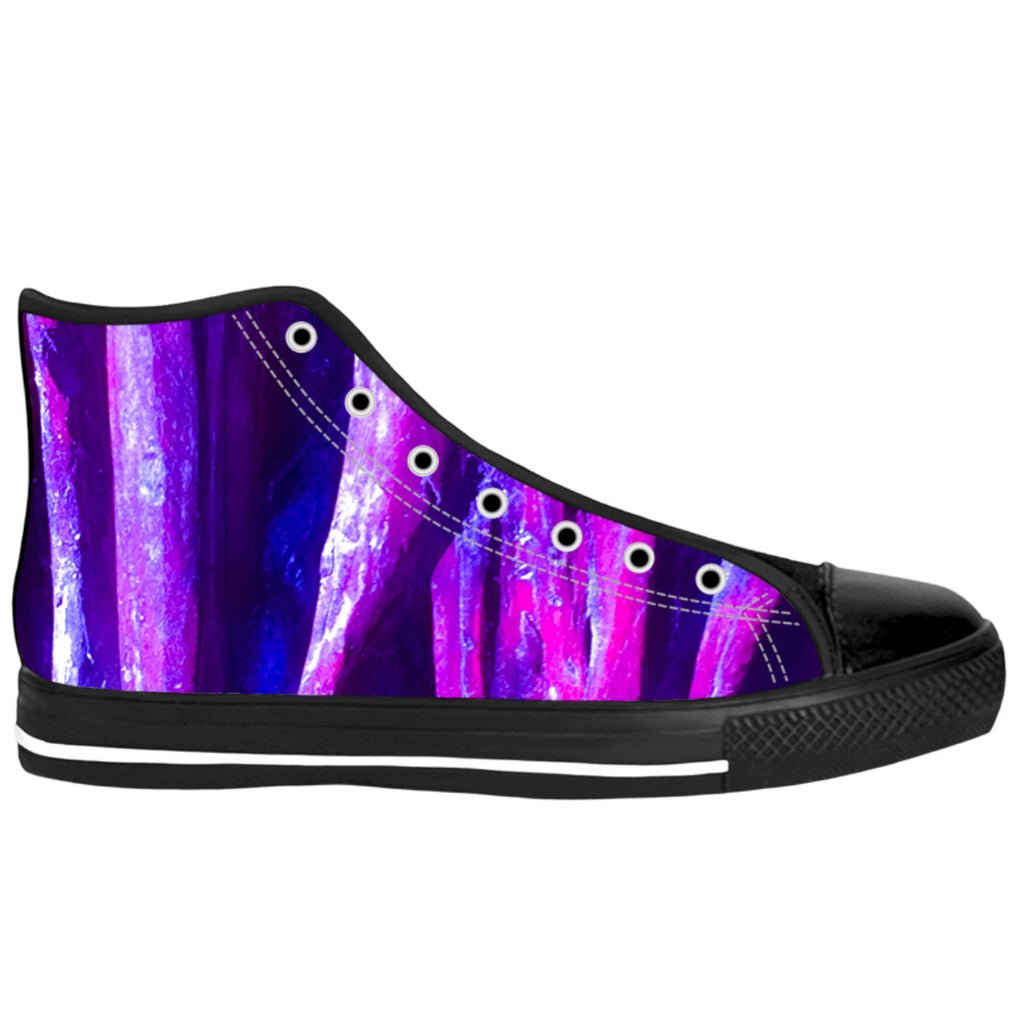 Fuchsia Wood High Top Shoes
