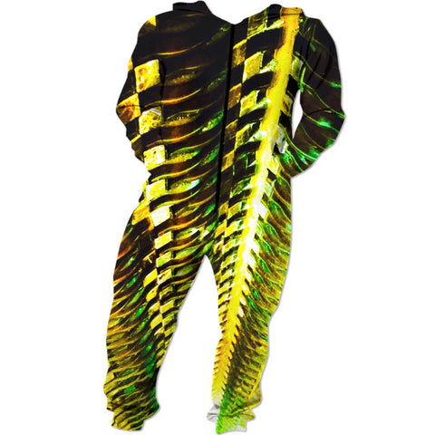 Green Gold Metal Onesie