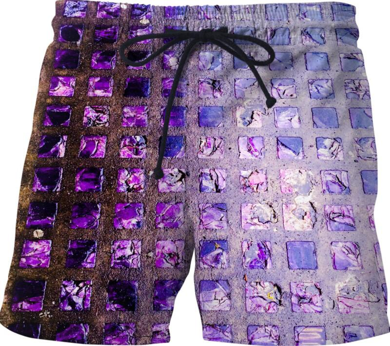Amethyst Sidewalk Swim Shorts