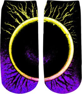 Eclipsed Purple Ankle Socks