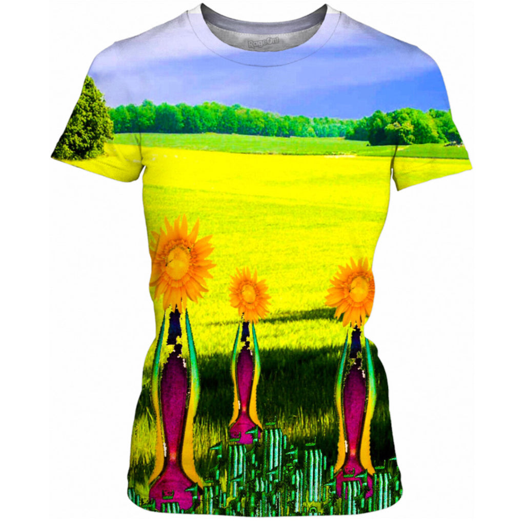 Embracing Sunflowers Ladies Tee