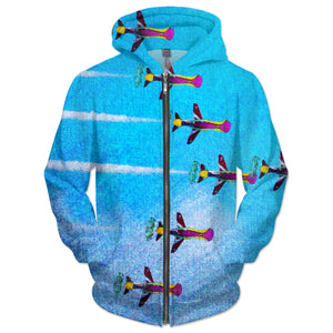 Embracing Airplanes Hoodie
