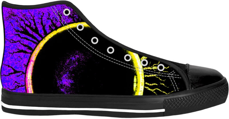 Eclipsed Purple High Top Shoes