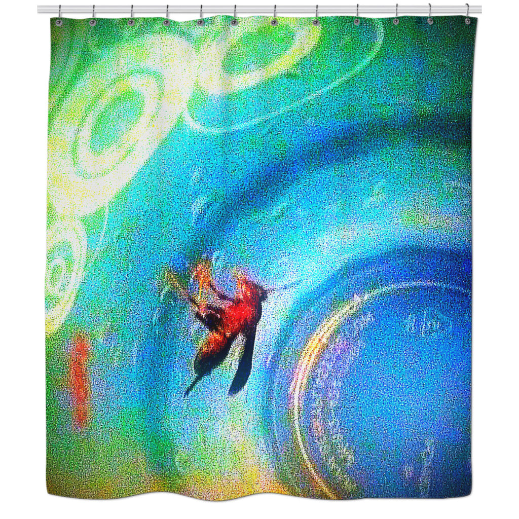 Solo Wasp Shower Curtain