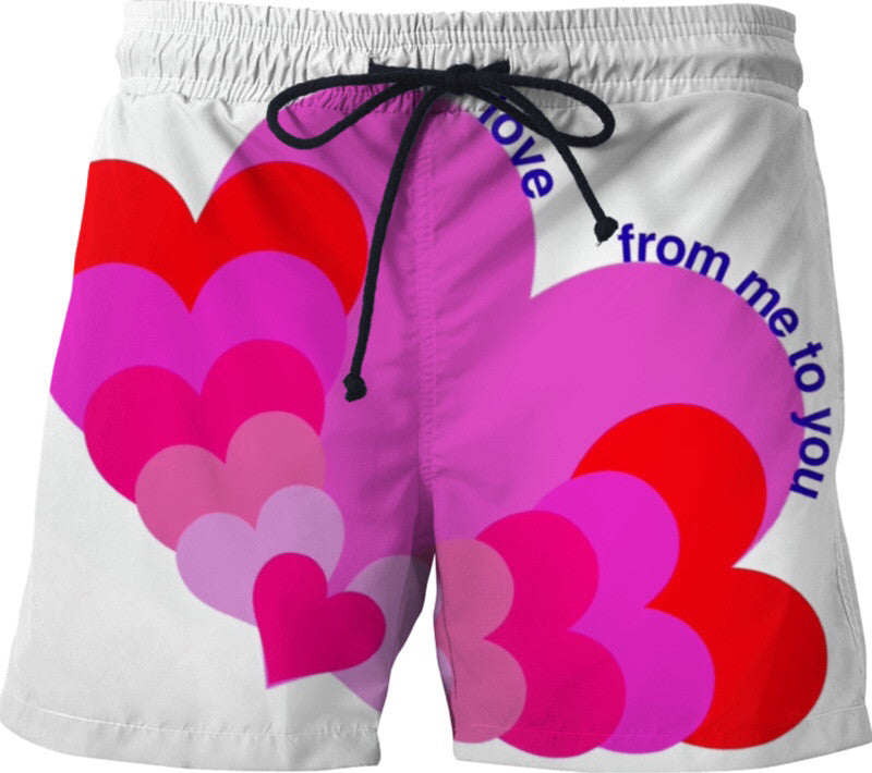 Love Hearts Swim Shorts