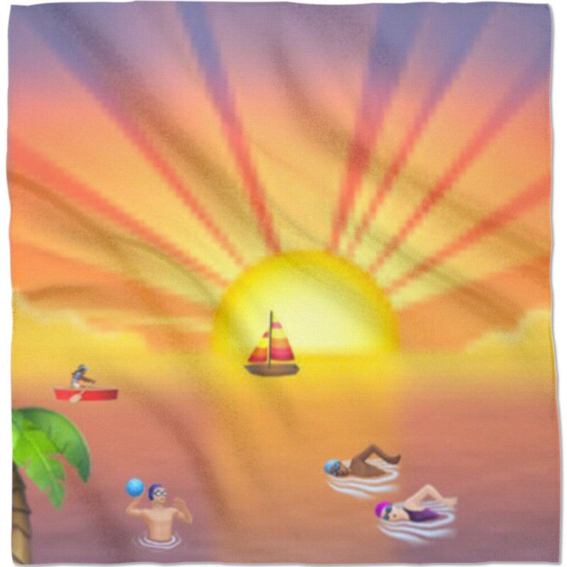 Emoji Sunset Bandana