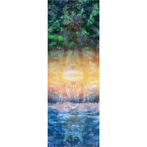 Rainforest Waterfall Yoga Mat