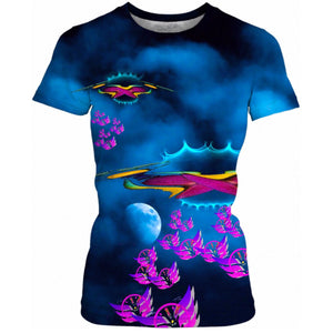 Time Flies to Mothership Ladies Tee