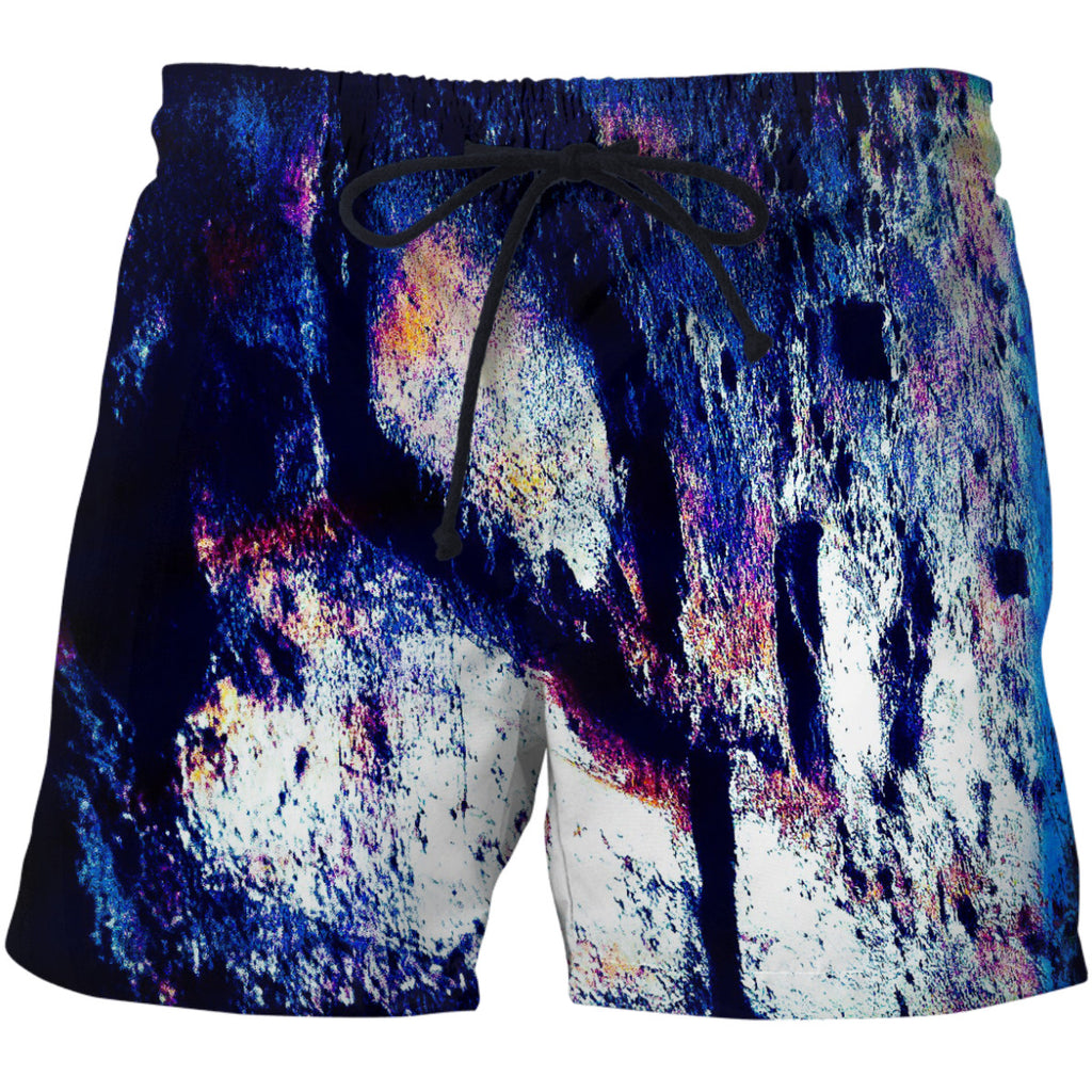 Blue Brick Wall Swim Shorts