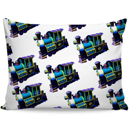 Blue Train Pillow Cases