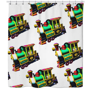 Trains Shower Curtain