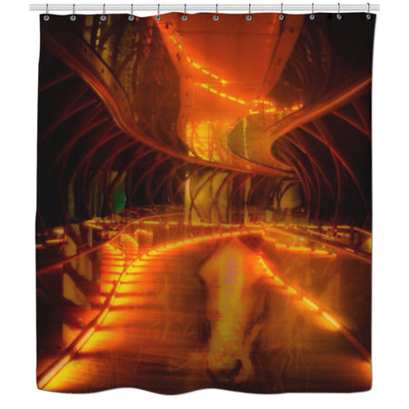 Neigh Flambè Shower Curtain