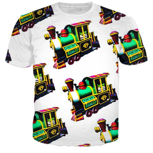 Neon Green Trains Tee