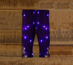 Purple Lights and Stripes Baby Leggings