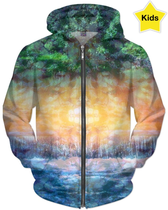 Rainforest Waterfall Kids Hoodie