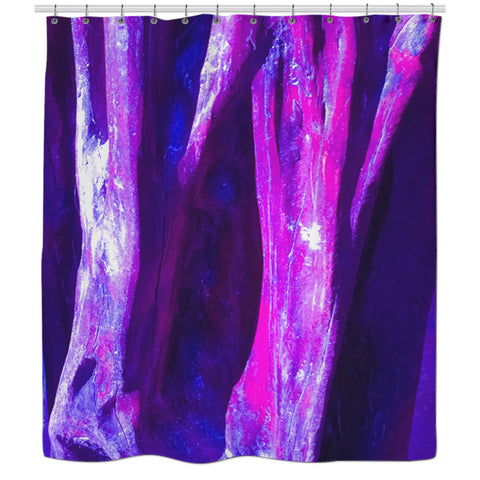 Fuchsia Wood Shower Curtain