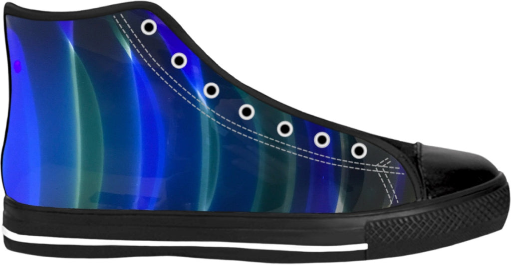 Blenko Blue Green High Top Shoes