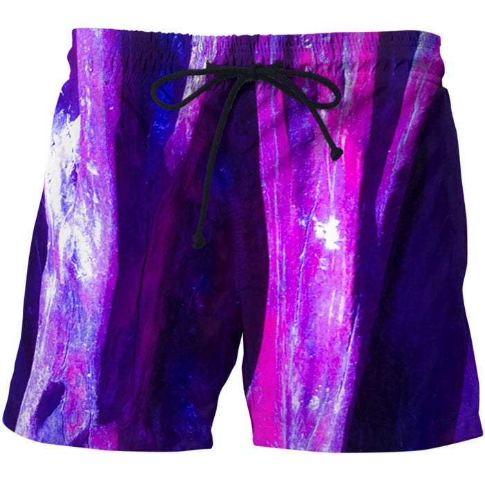 Fuchsia Wood Swim Shorts