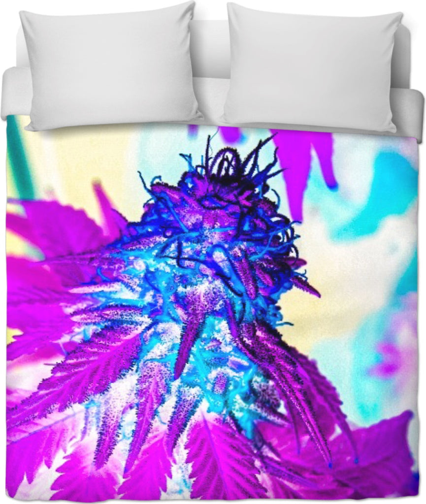 Hazy Bud Duvet Cover #RageOnWeedContest