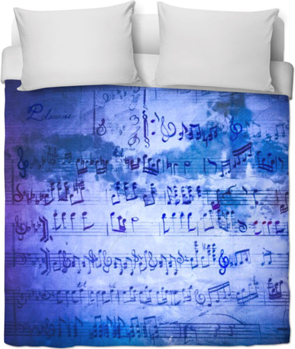 Musically Inclined Duvet Cover