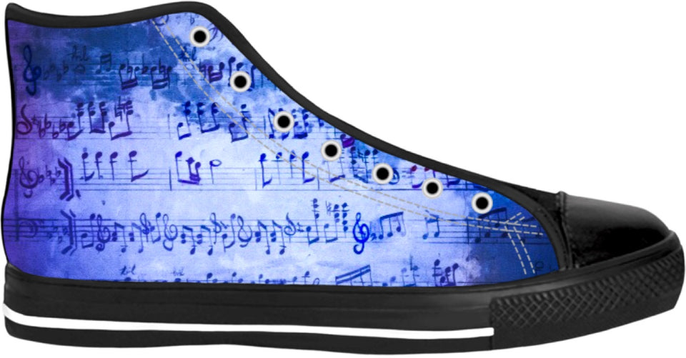 Musically Inclined High Top Shoes