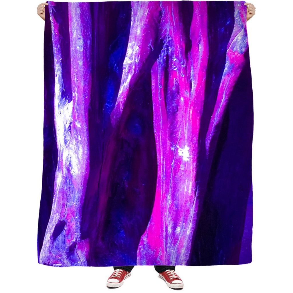 Fuchsia Wood Fleece Blanket