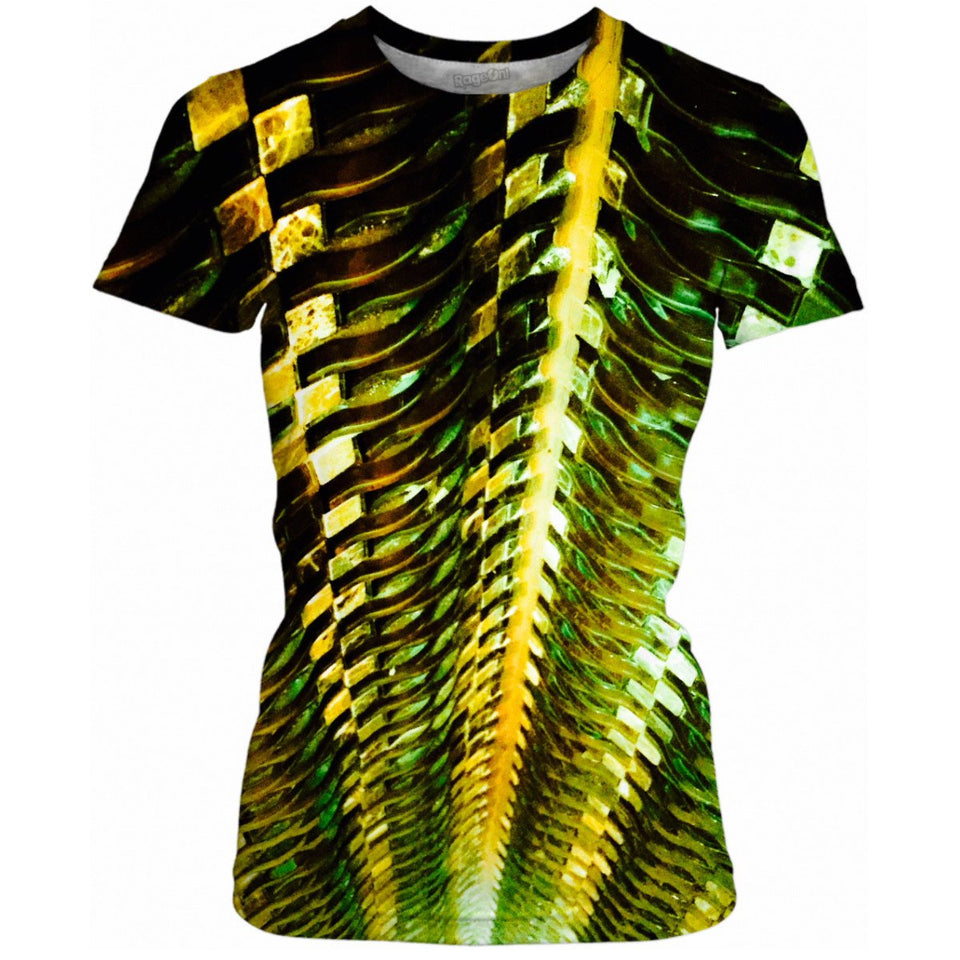 Green Gold Metal Ladies Tee