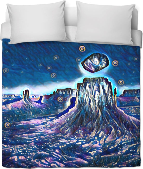 Levitate Midnight Duvet Cover