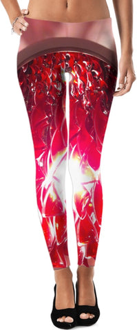 Red Twist Leggings