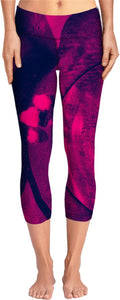 Floating Crimson Yoga Pants