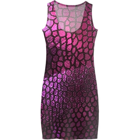 Purple Scales Dress