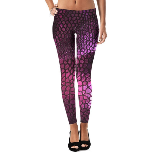 Purple Scales Leggings