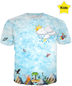 Emoji Sky & Sea Kids Tee