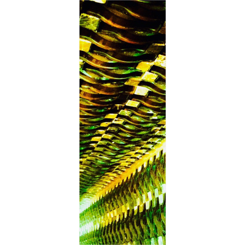 Green Gold Metal Yoga Mat
