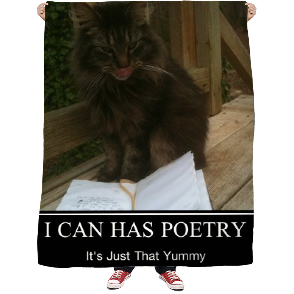 I Can Has Poetry Fleece Blanket