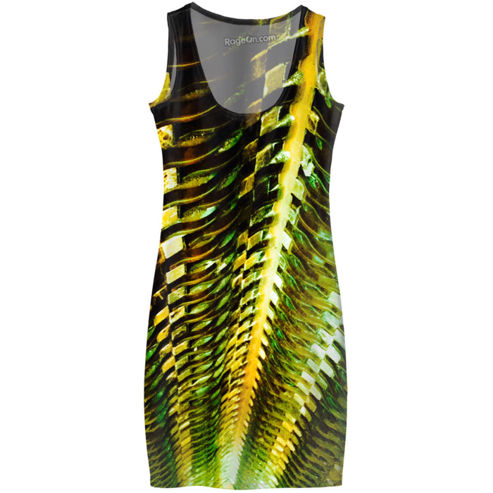 Green Gold Metal Dress
