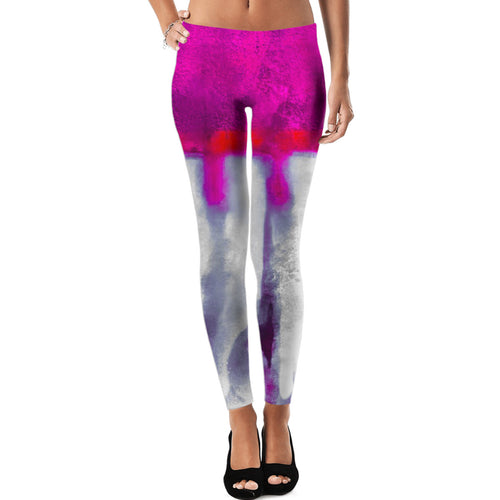 Ink Blot Fuchsia Leggings