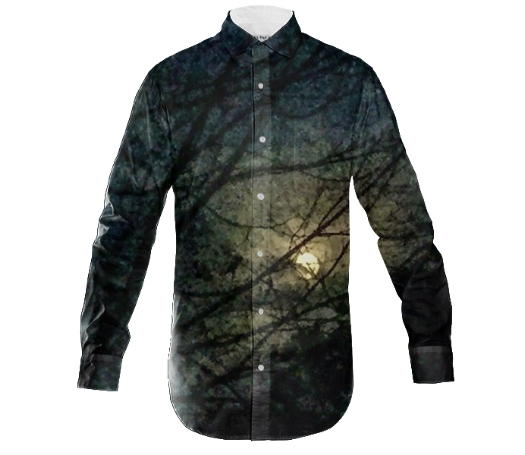 Moon Branch Dance Men's Dress Shirt