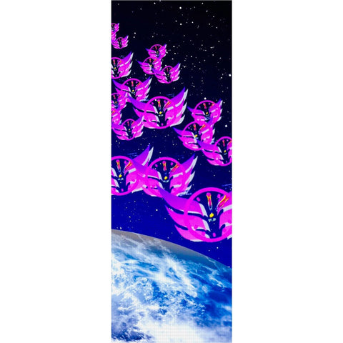 Time Flies in Space Yoga Mat