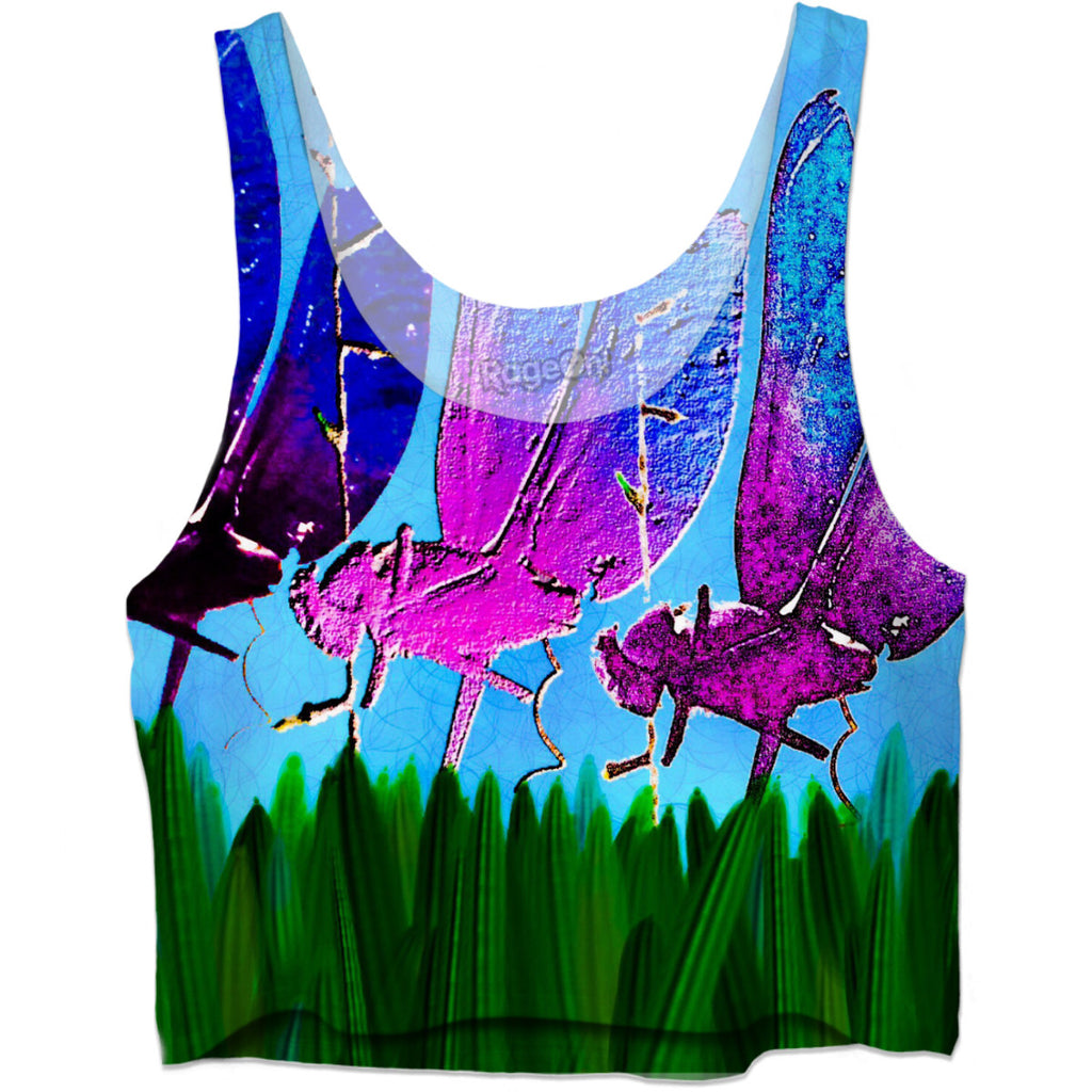 Dragonflies Crop Top