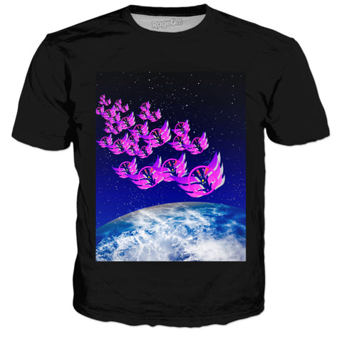 Time Flies In Space Tee